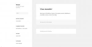 WordPress Ciao Mondo