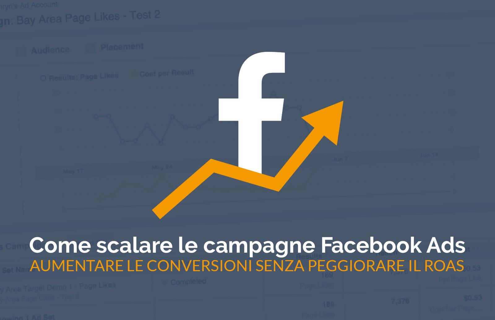 [Facebook ADS] Scalare le campagne: aumentare le conversioni senza peggiorare il ROI